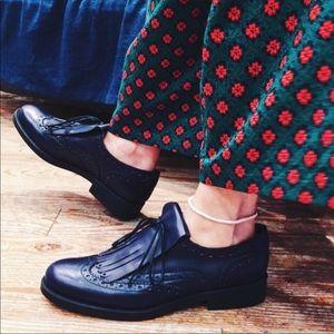 BOEMOS   Women's Leather Oxford Shoes - Black
